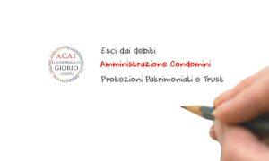 Studio Giorio Amministazione condominiale, Consulenza Trust e Protezioni Patrimoniali, Consulenza debitoria